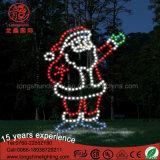 クリスマスの装飾のための防水LED第2サンタクロースのモチーフライト