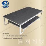Cara negra o mesa de centro del acero inoxidable del metal del rectángulo del MDF