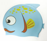 Chapeau de natation de silicones de dessin animé de gosses
