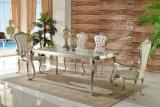 A8037マスターデザイン椅子セットが付いているバロック式の食堂の家具