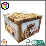 Het Vakje van de Gift van het Document van de Koffer van het Karton van het Slot van het Metaal van de Levering van de fabriek met Handvat