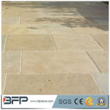 Pavers naturais da pedra calcária da venda por atacado da fábrica de Xiamen na superfície afiada
