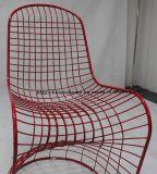 Реплика обедая стул стального провода Panton черноты мебели трактира Stackable