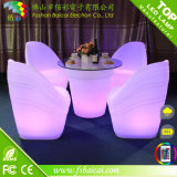 Chaise de jardin LED à l'extérieur LED Furniture Iluminated Bar Chair