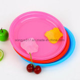 Placa simples creativa da cor dos doces da placa circular descartável da bolha