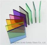 verre feuilleté durci de 6mm+1.14PVB+6mm (13.14mm) avec la couleur PVB