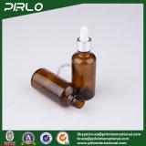 bernsteinfarbige Glasflaschen des wesentlichen Öl-50ml mit silbernem Metalltropfenzähler