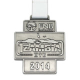 Médaille courante de marathon argenté antique en métal de mode de demi
