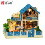 Casa de boneca educacional ajustada dos miúdos do bloco de apartamentos grande com luz