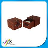 Le bois en gros de noix de Matt-Peinture a articulé la caisse d'emballage de cadeau de montre de bijou