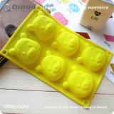 6 Handmade Winnie Pooh o molde flexível 22.5*14.5*3cm do bolo