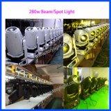 Luz principal movente da lavagem do ponto do feixe do ponto 280W do poder superior