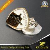 Pin macio chapeado do esmalte do baixo preço prata feita sob encomenda (XF-BG04)