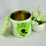 Круглые коробка олова печенья/контейнер олова/коробки олова для печений