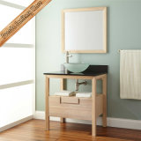 Moderne Badezimmer-Schrank-Eitelkeits-einzelne Wannen-Badezimmer-Eitelkeit des festen Holz-Fed-316