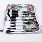 12PCS Cosmetic Brush Kit con el bolso decorativo del patrón