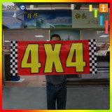 Stampa su ordinazione di Digitahi di promozione che fa pubblicità alle bandiere della flessione del vinile del PVC (TJ-AP1)