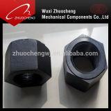 Noix Hex lourde du noir A194 2h d'acier du carbone