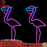 Muestra de neón del flamenco LED del precio de fábrica 24V IP65 para la decoración