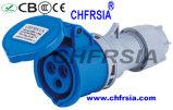 3p 6h IP44 16A ECE / CEI PP / PA conector industrial del enchufe del zócalo