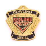 Medaglia del premio di bowling dell'oro del metallo dello smalto di alta qualità