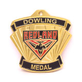 Qualitäts-Decklack-Metallgoldbowlingspiel-Preis-Medaille