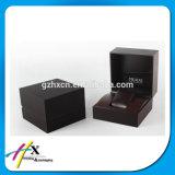Boîte-cadeau en bois faite sur commande à extrémité élevé de cadre de mémoire de montre