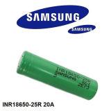 Bateria recarregável do Li-íon 18650 do poder superior de Sam Inr18650-25r 3.7V 2500mAh