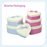 Boîte-cadeau promotionnelle de forme de coeur de papier de carton