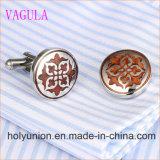 VAGULAデザイナーシタンのカフスボタンのステンレス鋼の赤い木製のカフスボタン361