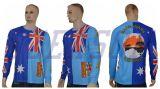 A camisola feita sob encomenda da pesca do competiam do desgaste dos esportes imprimiu