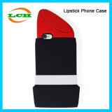 창조적인 형식 립스틱 iPhone를 위한 연약한 실리콘 전화 상자