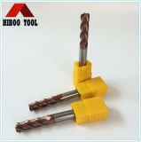 Economic HRC45 Tisin Coated Corner Raduis Carbide Cutter