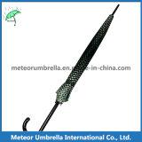 方法メンズはスポーツの黒い格子ゴルフまっすぐな傘を冷却する