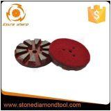 3 de Oppoetsende Stootkussens van het Metaal van de Diamant van het Terrazzo van de Klitband van het Segment van de duim