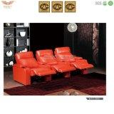 Mobília da sala de visitas, sofá do Recliner do couro do escritório Home (HY 2613)