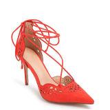 Form-Veloursleder-Frauen-Schuhe mit starker u. bequemer Ferse