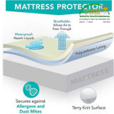 Meilleure couverture de matelas respirable imperméable à l'eau avec la tirette