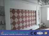 Panneaux de mur acoustiques de tissu décoratif intérieur insonorisé