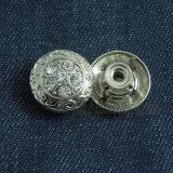 Кнопка металла глянцеватого Rhinestone кристаллический для джинсыов повелительниц
