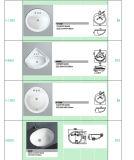 量の下の磁器の洗面器