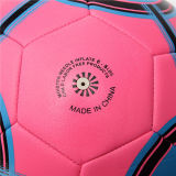 Sfera di calcio promozionale della via di gioco del calcio cucito a macchina del PVC