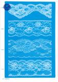 Merletto non elastico per vestiti/indumento/pattini/sacchetto/caso F212 (larghezza: 1.4CMM a 24cm)