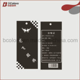 Alta calidad y buen precio, etiqueta de papel cartón para prendas de vestir