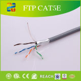 24 Calibre de diâmetro de fios do sólido cabos de LAN do ftp Cat5e do Ethernet Bc