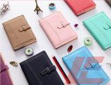 Cuaderno de cuero de encargo del cuero del diario del diario de la PU del último diseño 2016