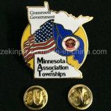 Pinos feitos sob encomenda da bandeira nacional do metal da alta qualidade