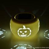 Lampada di ceramica della Tabella solare decorativa della zucca di Halloween
