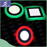 Luz de painel de venda quente do diodo emissor de luz das cores da borda 2 do verde do vermelho azul