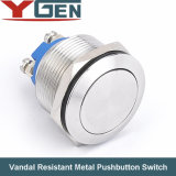 CE RoHS 19m m Vandal Resistant Push Button Switch (GQ19 Series)